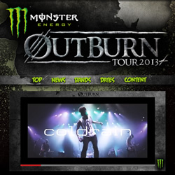 【MONSTER ENERGY OUTBURN TOUR 2013】3月開催!